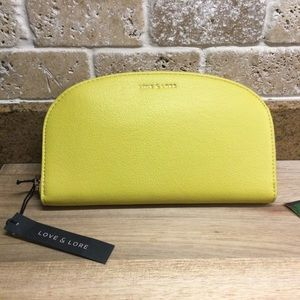 New Love And Lore Curved Wallet Citron